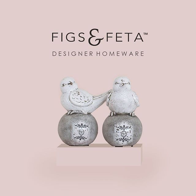 These two Love Birds are exclusive to Figs & Feta