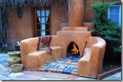 Gardendesigns More April 2009 Outdoor Fireplace Santa Fe Style Santa Fe Home