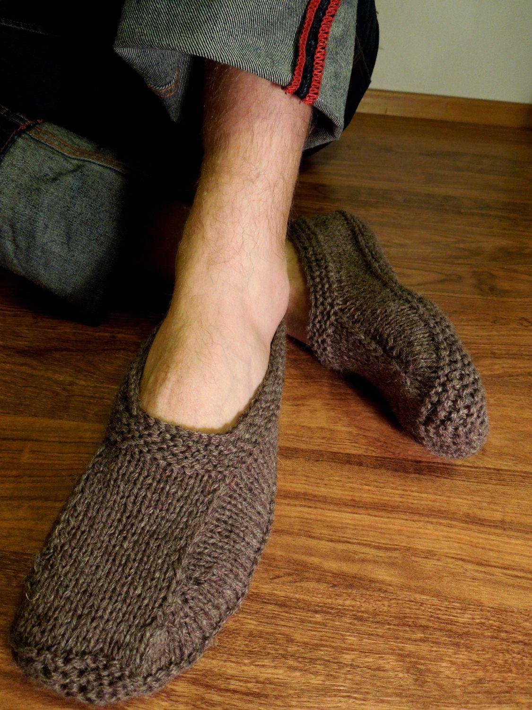 Men knitted wool socks. Wool socks. Hand knit socks. House socks. Birthday gift. Christmas present. pqKyE7ZoX