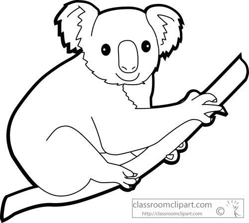 Animal Outline Animal Silhouette Koalas