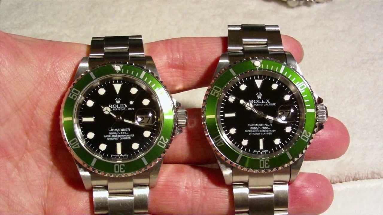 REAL vs FAKE ROLEX SUBMARINER green