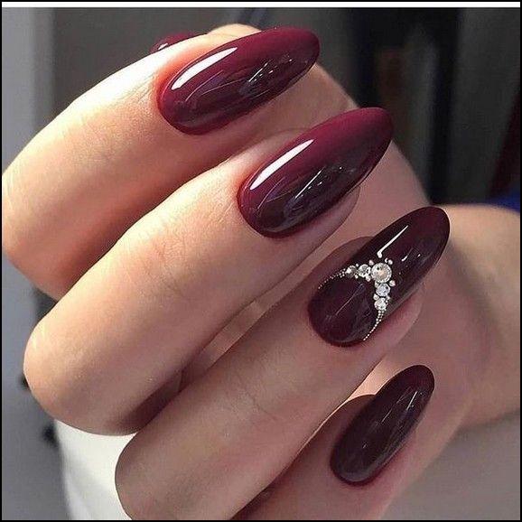 2020 Summer Seasonal Long And Short Acrylic Polished Matte And Coffin Nail Designs Page 39 Burgundy Nails Red Acrylic Nails Wine Nails
