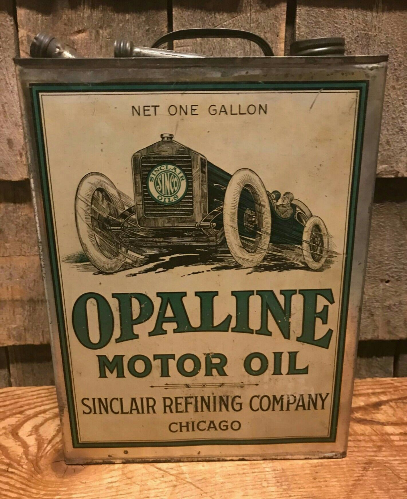 RARE Original Sinclair Opaline Motor Oil 1-Gallon Oil Can