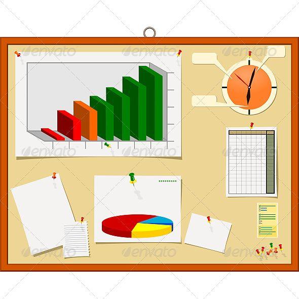 Notice Board Vector Graphics Design Web Design Illustration Design