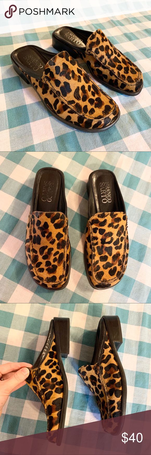 Franco Sarto Leopard Calf Hair Square