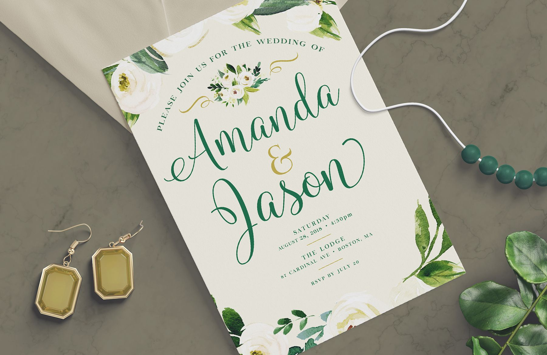 How To Create A Wedding Invitation Design In Photoshop