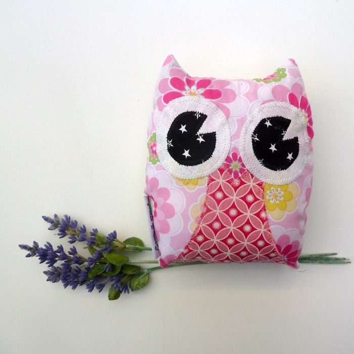 Hootie Owl with Lavender Toy Softie $15