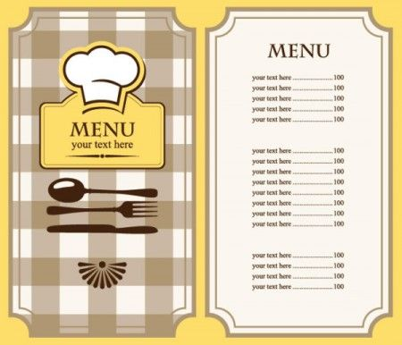 set of cafe and restaurant menu cover template vector 03 行って