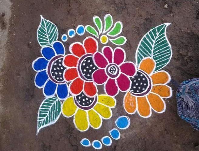Simple Rangoli Designs For Home Diwali Rangoli Designs