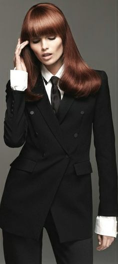 0a378f227921 Image result for woman wearing mens suit | suits | Fashion, Suit ...