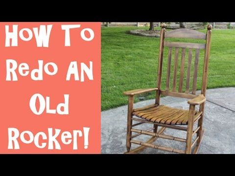 How To Refinish An Old Wooden Rocking Chair With The Idaho Painter Youtube Wooden Rocking Chairs Old Wooden Chairs Old Rocking Chairs
