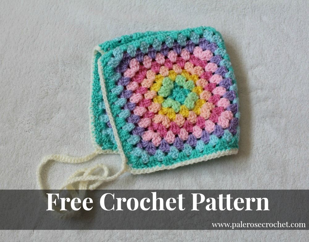 Granny Baby Bonnet Pattern | Crochet | Pinterest | Vida