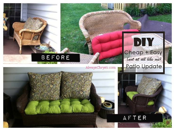 DIY TUTORIAL: HOW TO PAINT AN OUTDOOR WICKER LOVESEAT - May 1 DIY TUTORIAL: How To Paint A Wicker Loveseat How To Paint