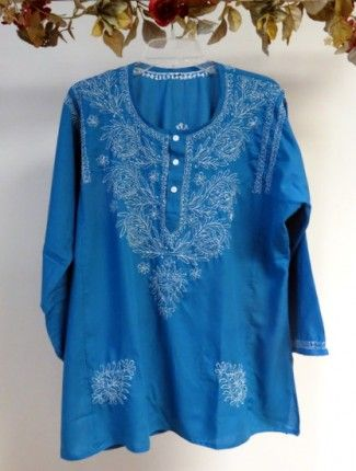 80bdac7ca66 Teal Blue Cotton Summer Tunic on Sale - Cotton Tunic Tops XS – 4X - Women s  Tunics