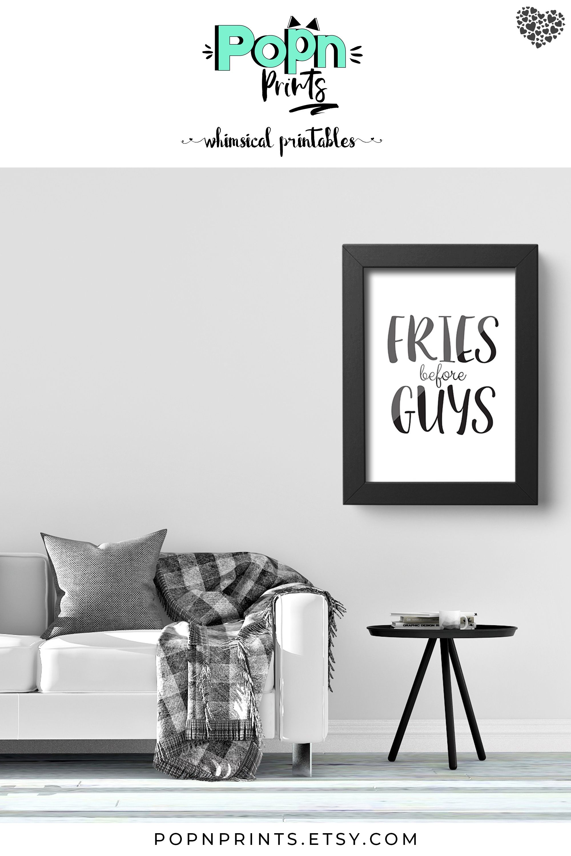 Fries Kitchen Wall Art Instant Download Best Friend Gift Etsy Funny Printables Contemporary Home Decor Wall Art Living Room