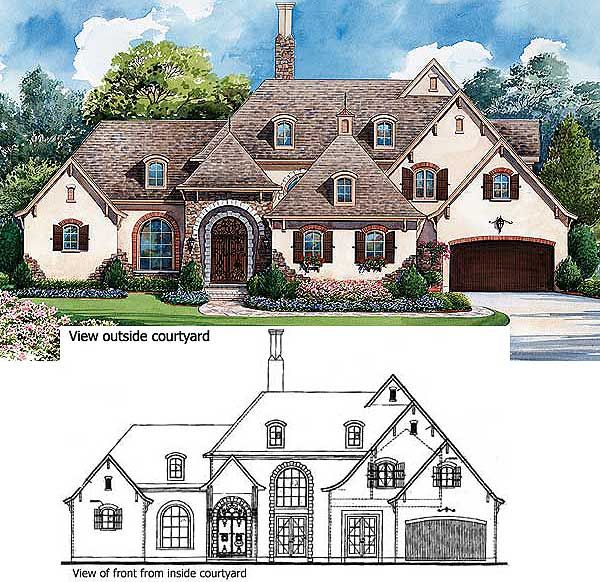 Plan 40444DB: Exceptional French Country Manor