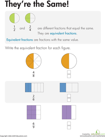 Equivalent Fractions: Find the Partner | Equivalent fractions ...