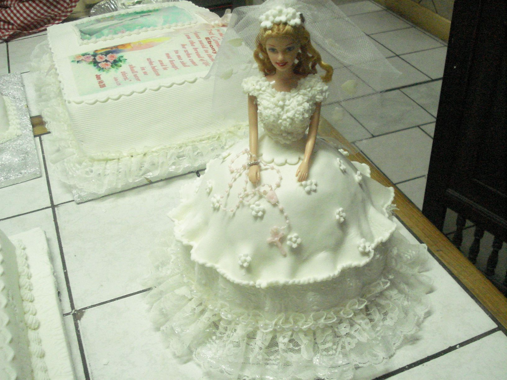 Doll Cake Barbie Doll Cake Pan Used to Make a First Communion Cake