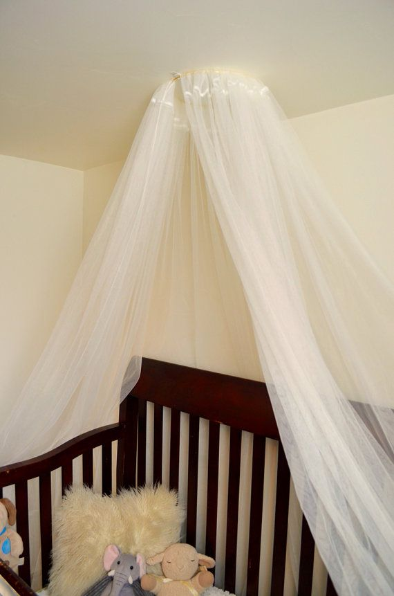 Tulle Canopy For Baby Crib Nursery Or Bed Photo Prop Organza