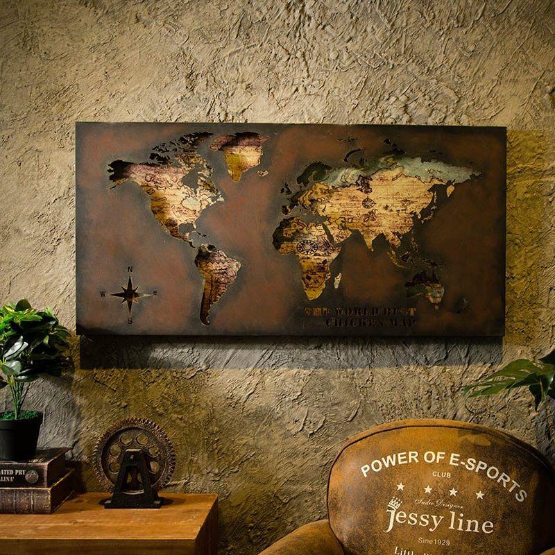 Sdelaj Sam Diy Dekor Svoimi Rukami Dekor Komnaty Novogodnij Dekor Dekor Dlya Doma Novyj God Sovety Lajfhaki P World Map Wall Decor World Map Painting Wall Decor
