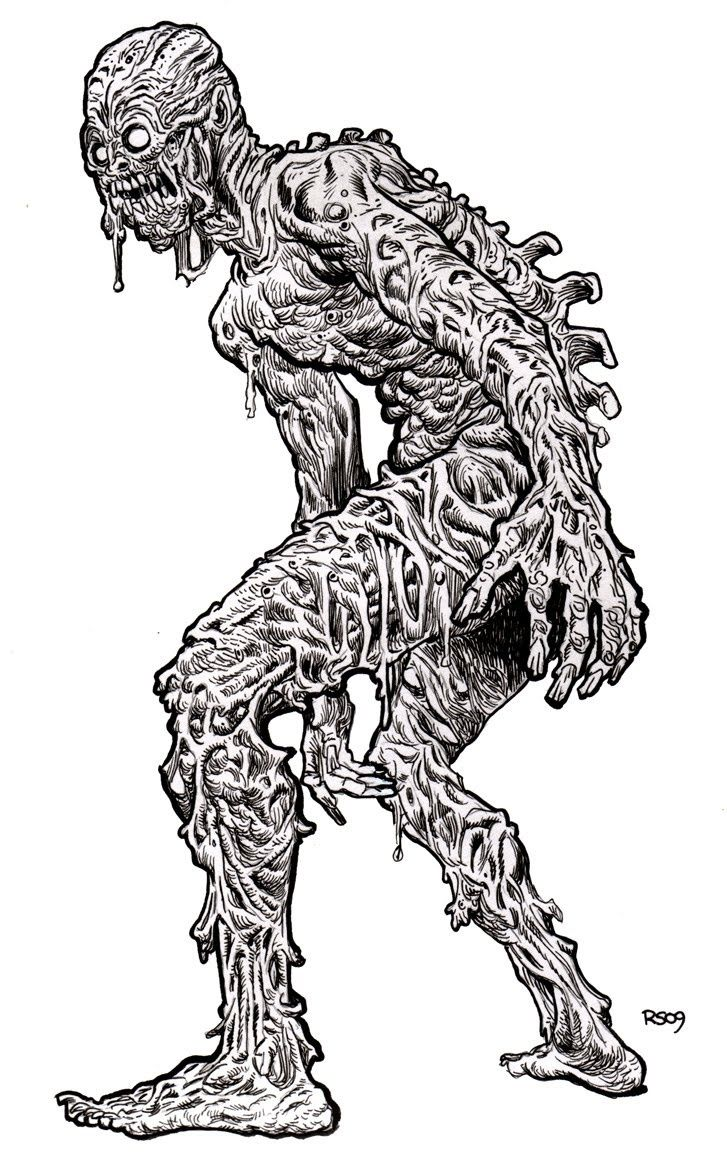 A Very Scary Zombie Coloring Page To Keep With The Halloween Theme