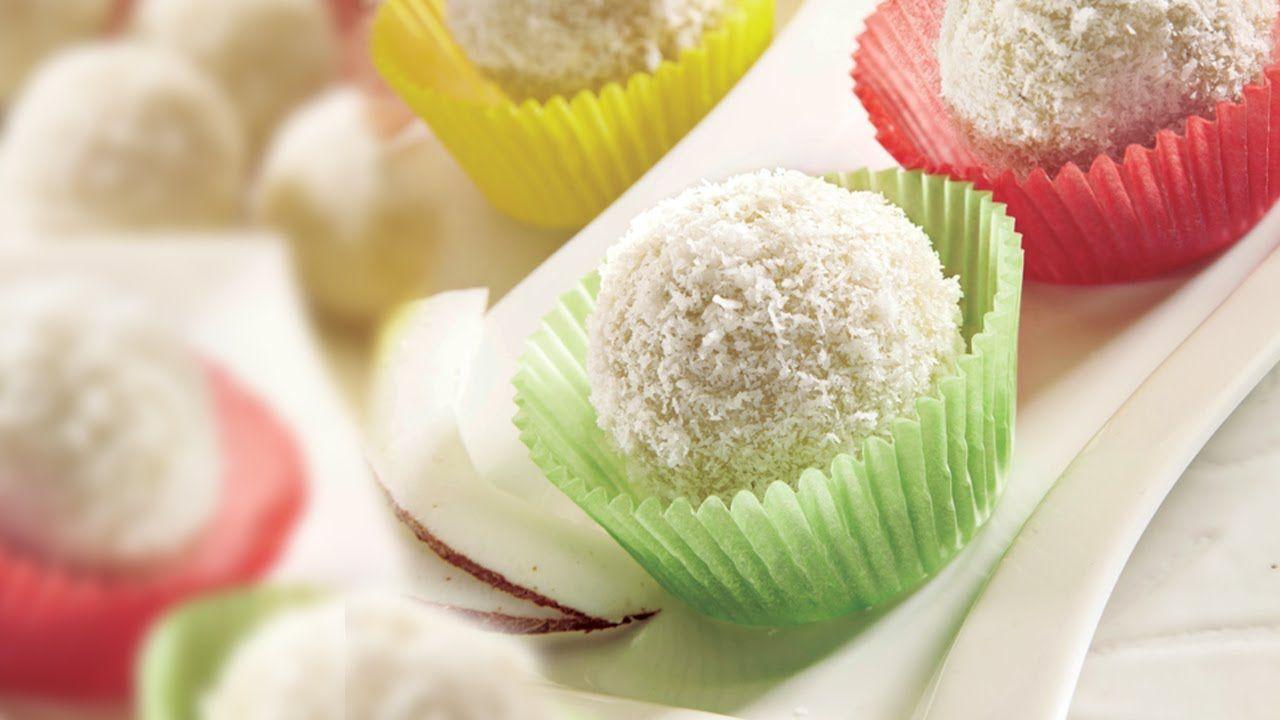 Coconut Laddoo Easy 3 Step Recipe Sweet Desserts Coconut Ladoo Recipe Balls Recipe