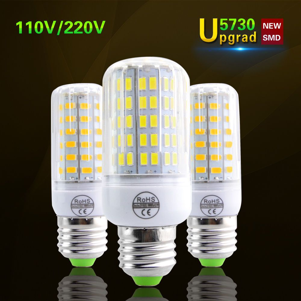 E27 Led Light Bulb 5730 Smd Chip Led Corn Lamp 120v 220v 24leds 136leds Lampada Led Bulb Led Lights Light Bulb