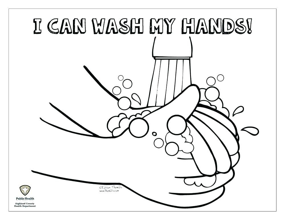 hand washing coloring pages # 2