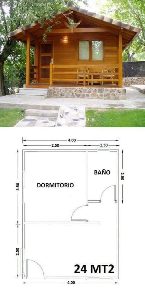 Arquitectura casa en 2019 planos de casas peque as - Casas de madera bonitas ...