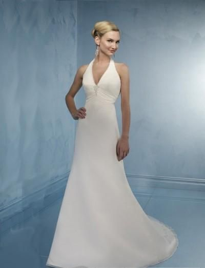 wedding dresses a line wedding dresses wedding dresses mermaid with sleeves sexy deep v-neck with halter slim a line skirt with chapel train informal wedding gown wl-0092