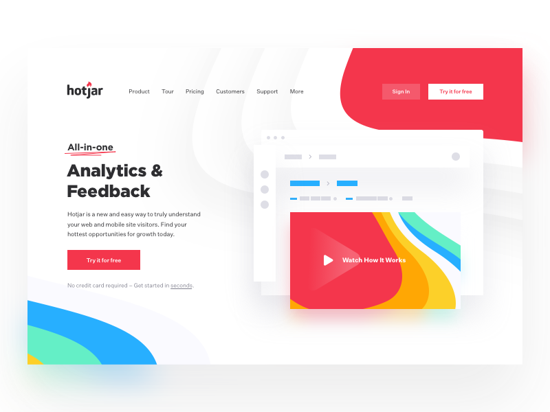 Product Page Hotjar Web App Design Pinterest Web Design