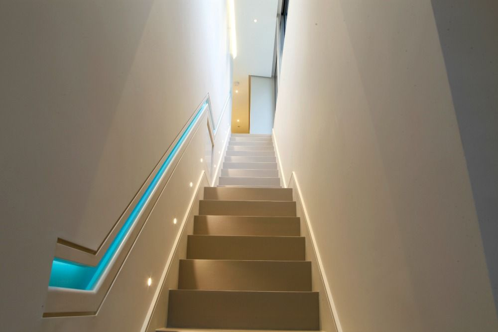 Canned Ceiling Lights Basement Stairs: The Lighting Of The Stairs And Landing Was Upgraded By The
