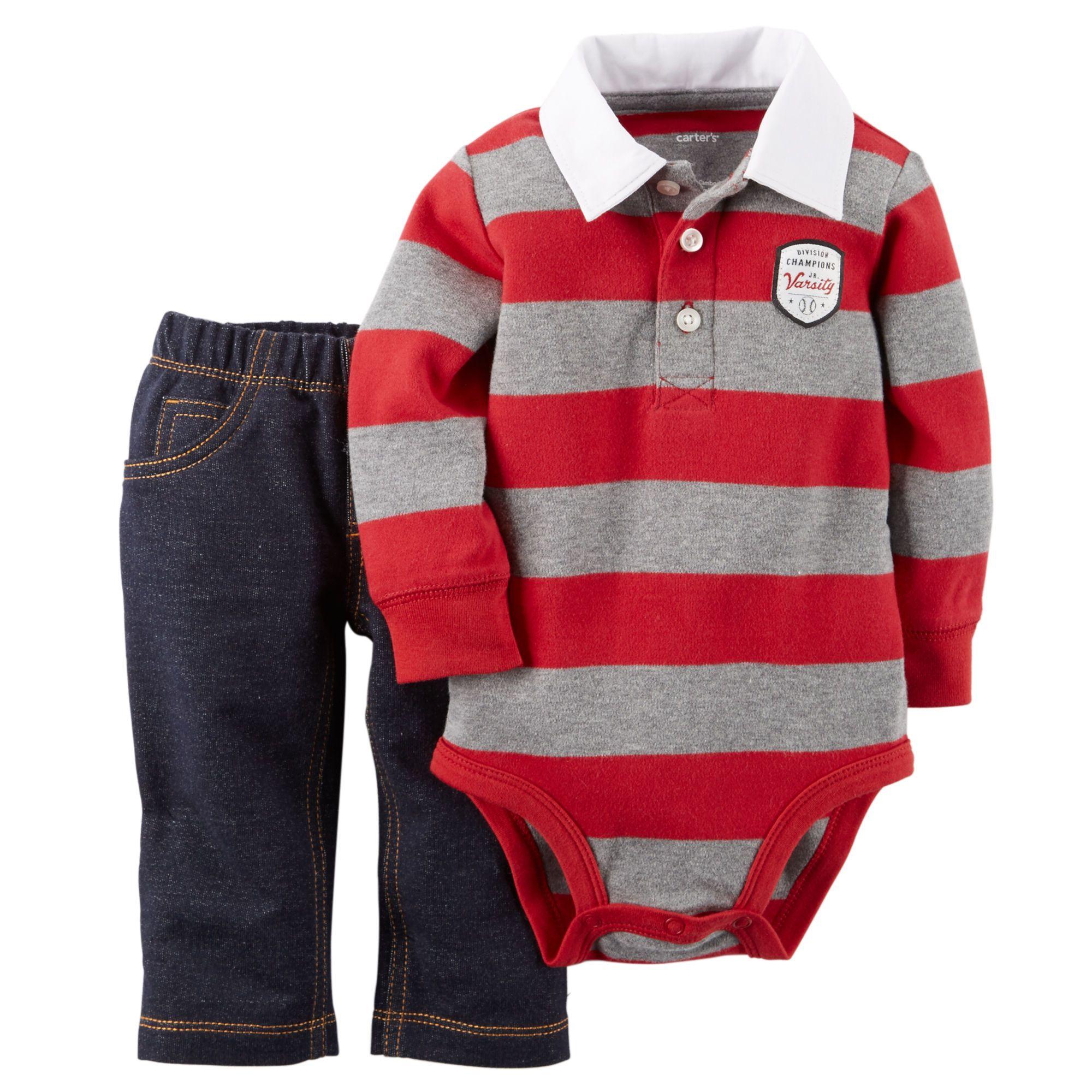 Baby Boy 2-Piece Bodysuit & Pant Set | Carters.com