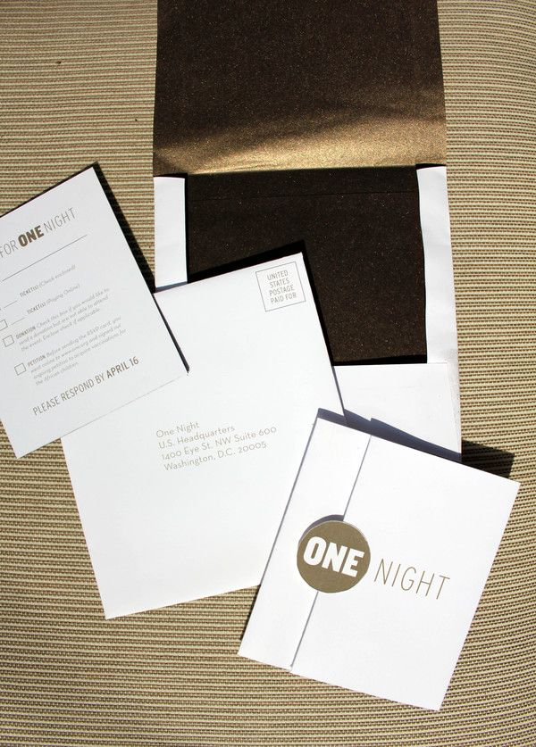 ONE Gala Event Invitation by Jennifer Phelps, via Behance