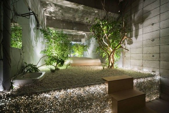 Love Themed Hotel In Tokyo Indoor Zen Garden Garden Lighting Design Garden Bedroom