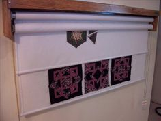 perfect design wall for quilting-takes little space and can be rolled up when not in use www.design-a-way.com