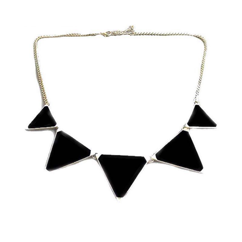 2016 Cadeaux De Noël Déclaration Maxi Collier Chunky Colliers et Pendentifs Triangles Colliers Choker achats en ligne en inde