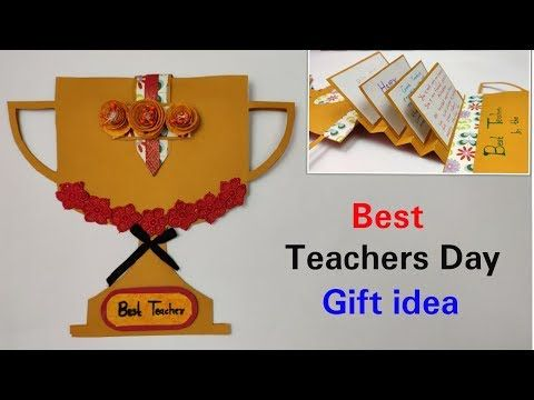 DIY Teacher's Day card /Handmade Teacher's Day card/DIY Greeting card 2019 - YouTube #teachersdaycard