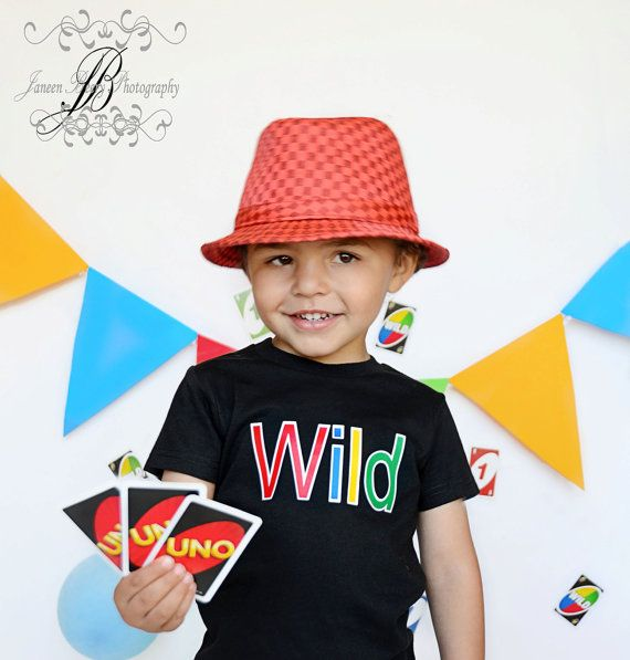 WILD Uno Birthday Shirt