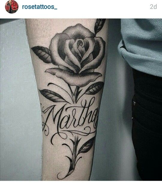 Rose Tattoos With Names On Arm Best Tattoo Ideas