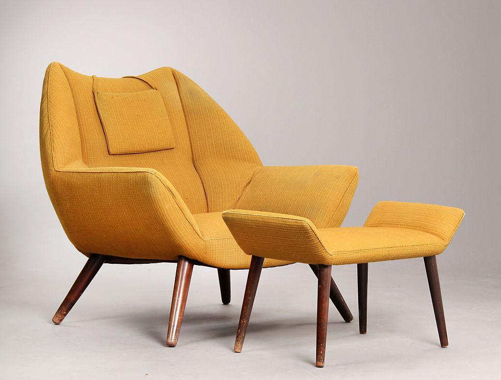 Kurt 216 Stervig Easy Chair Armchair With Ottoman
