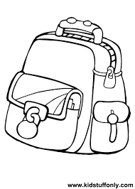 Image Result For School Bag Coloring Page