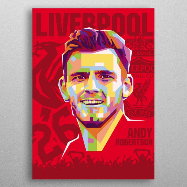 is a Scottish professional footballer who plays as a left back for Premier League… | Displate thumbnail