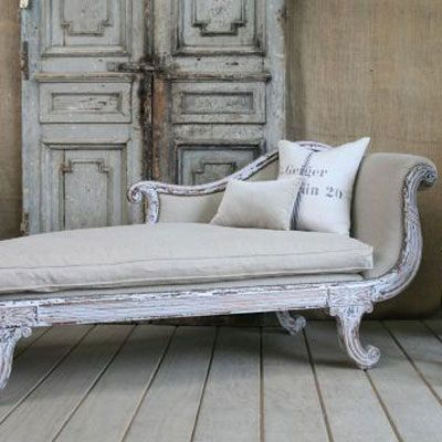 Vintage Renaissance Style Chaise Cottage Haven Interiors Chaise Home Decor Shabby Chic Furniture