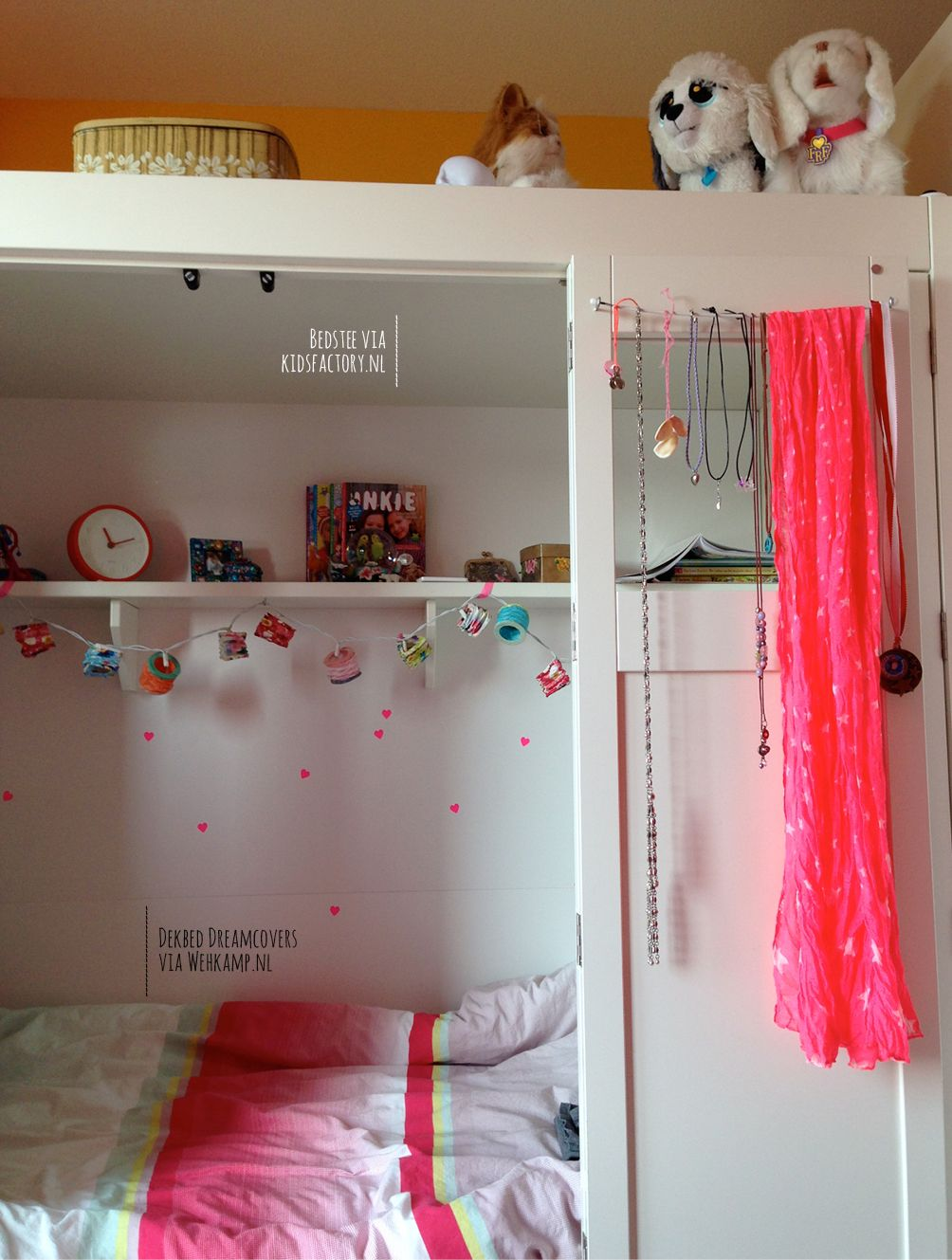 Colorful room for a 8 year old girl. www.facebook.com ...