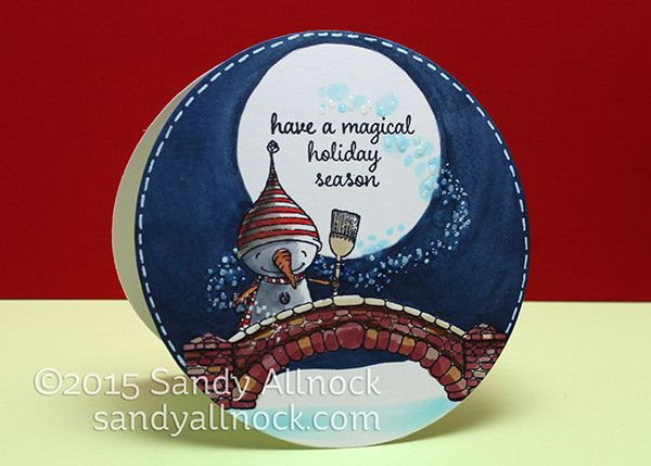 Setting up a Stamped Scene: Snowflake Grove Stamps - Sandy Allnock