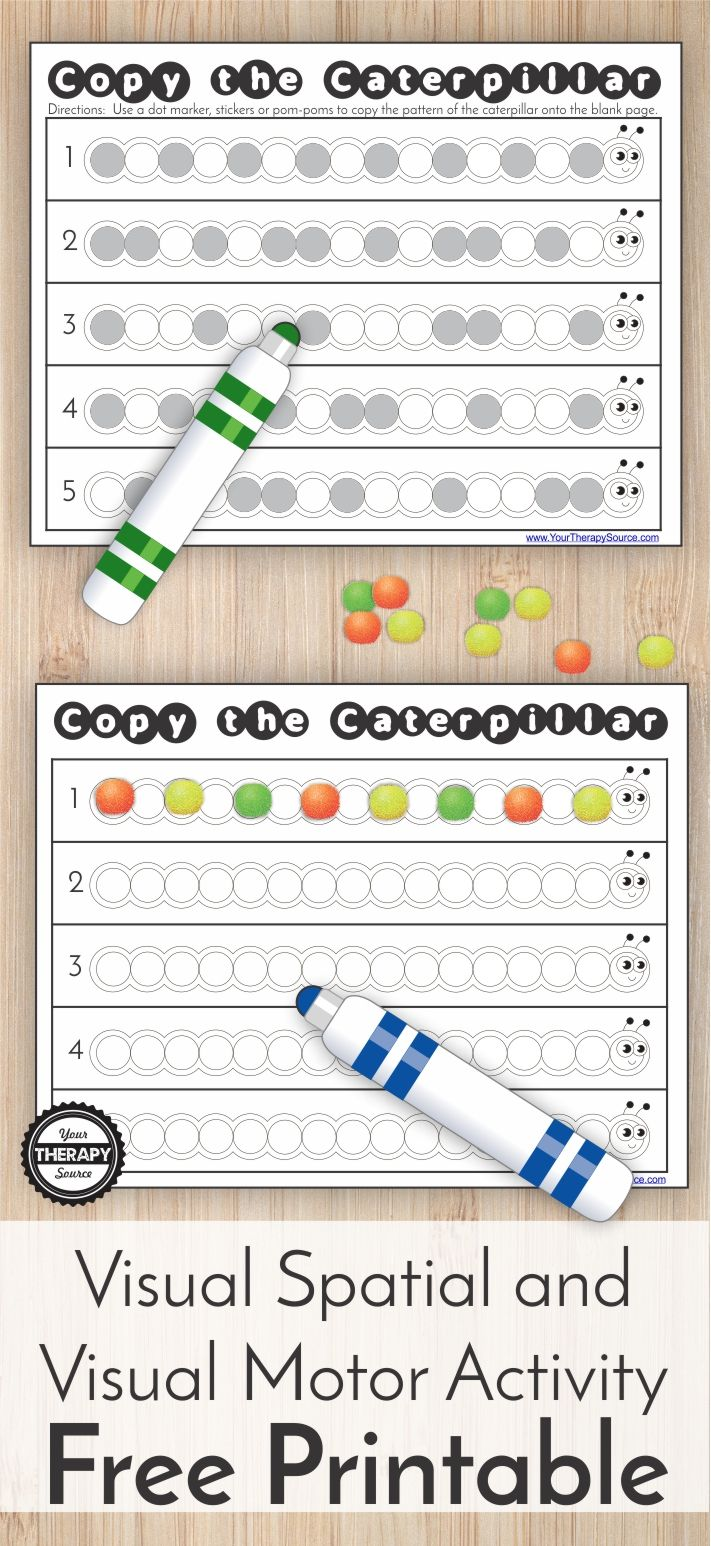 Copy The Caterpillar Visual Spatial And Visual Motor Activity Freebie Your Therapy Source Visual Motor Activities Visual Perceptual Activities Visual Perception Activities [ 1546 x 711 Pixel ]