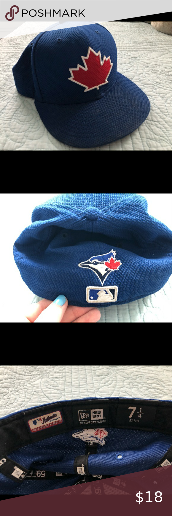 Blue Jays Hat Maple Leaf Logo On Front And Blue Jay On The Back Fitted 7 1 4 New Era Accessories Hats Hats Blue Maple Leaf Logo