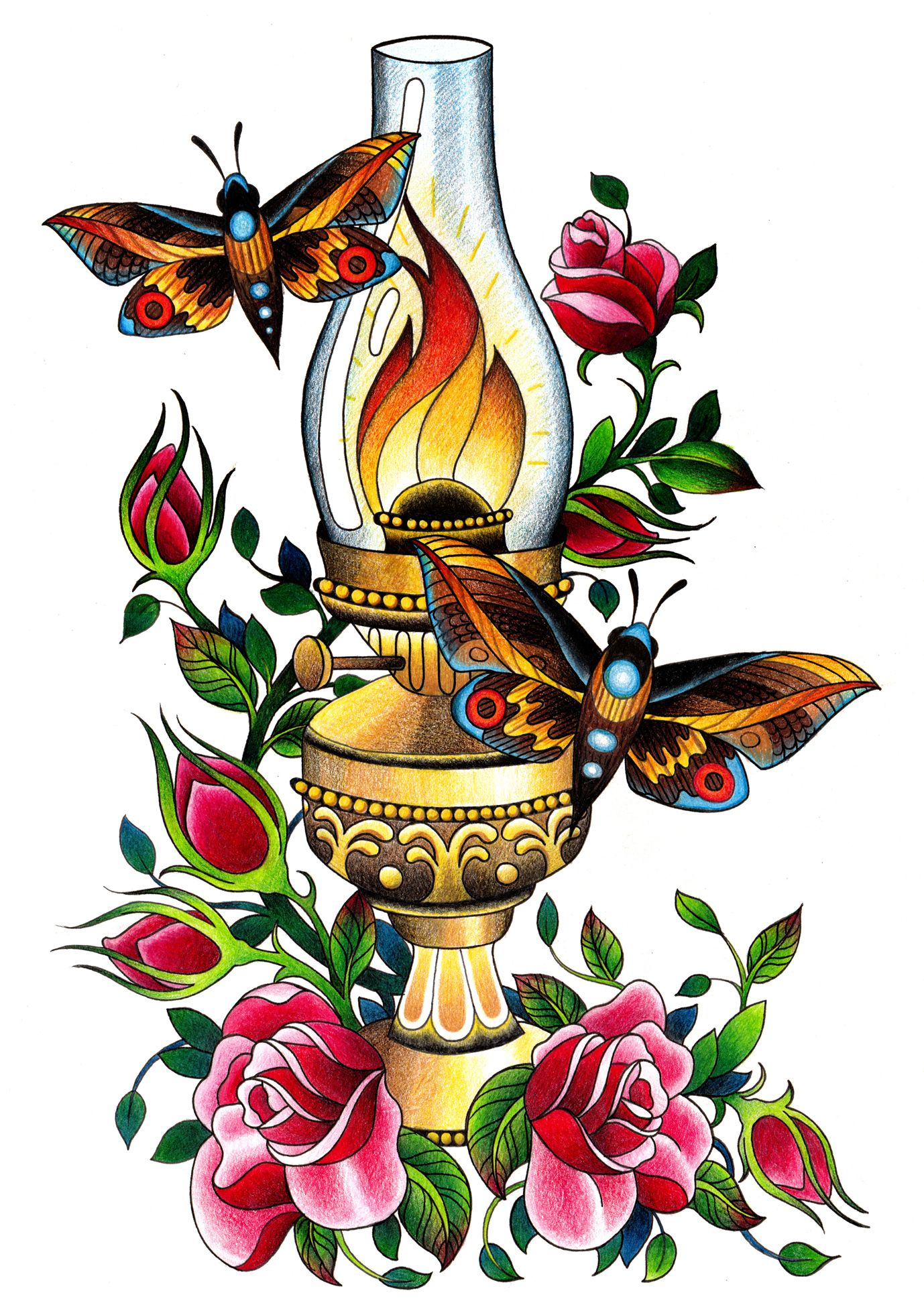 oil lamp tattoos   Pin Critique Thread Page 129 Big Tattoo Planet Community Forum on ...