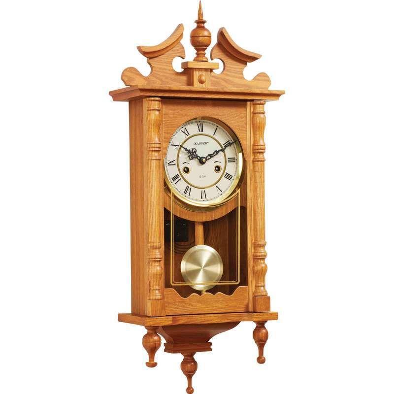 Kassel 15 Day Oak Wall Clock Clock Wall Pendulum Clock